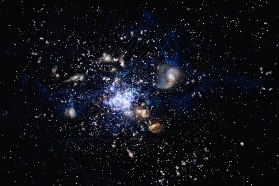 Galáxias formadas na infância do universo são encontradas