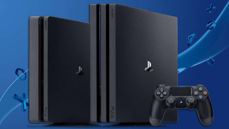 Os modelos de PS4 atualmente disponíveis no Brasil, Slim e Pro.