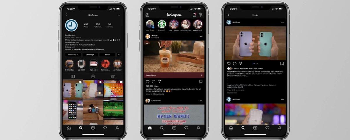 Imagem de: Instagram ganha Modo Escuro no iOS 13; veja como ativar