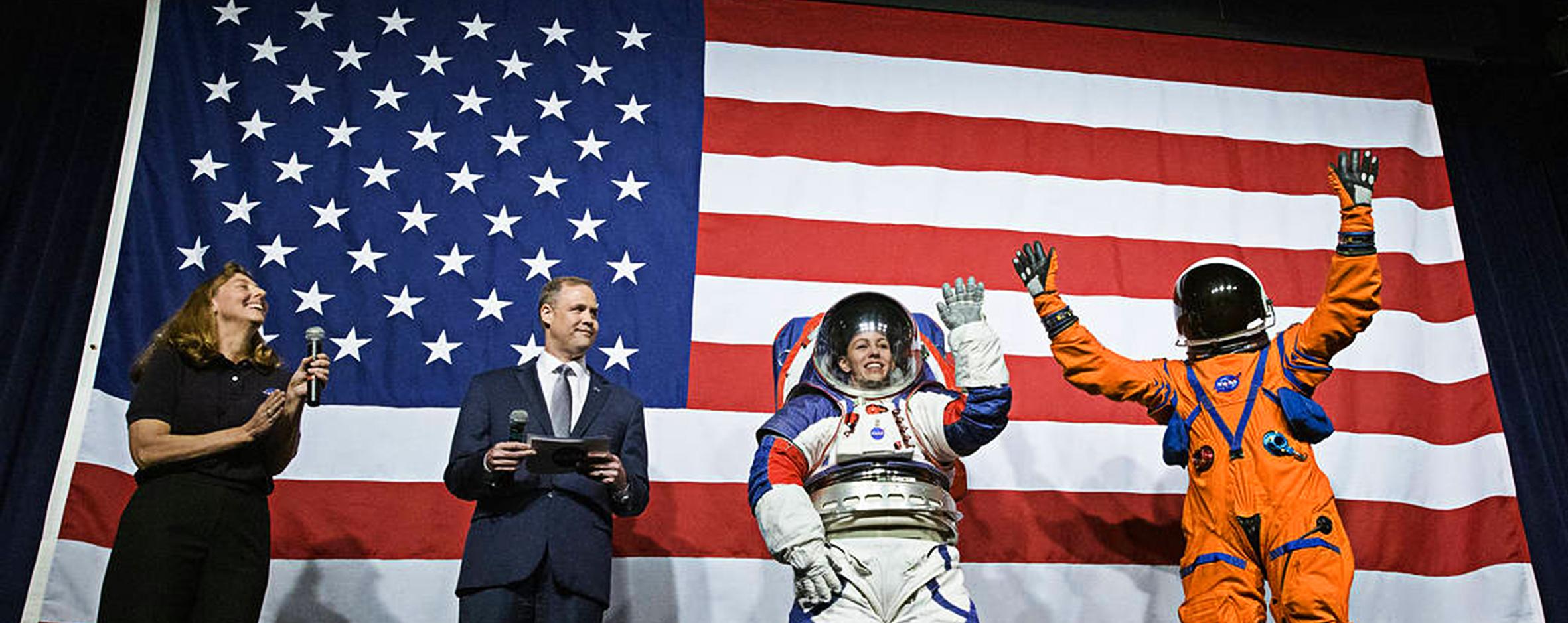 NASA mostra o novo traje espacial da primeira mulher na Lua
