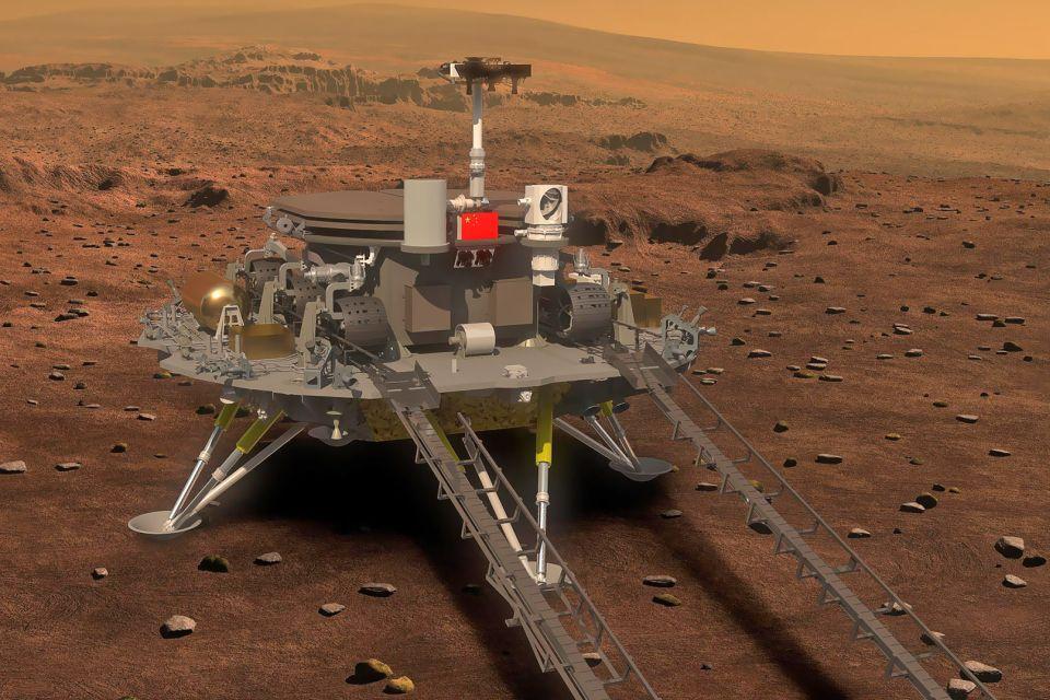 Agência chinesa revela imagem da nave que explorará Marte em 2020