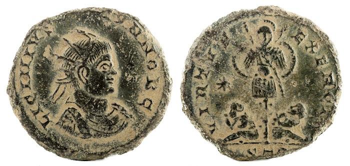 tesouros em moedas romanas