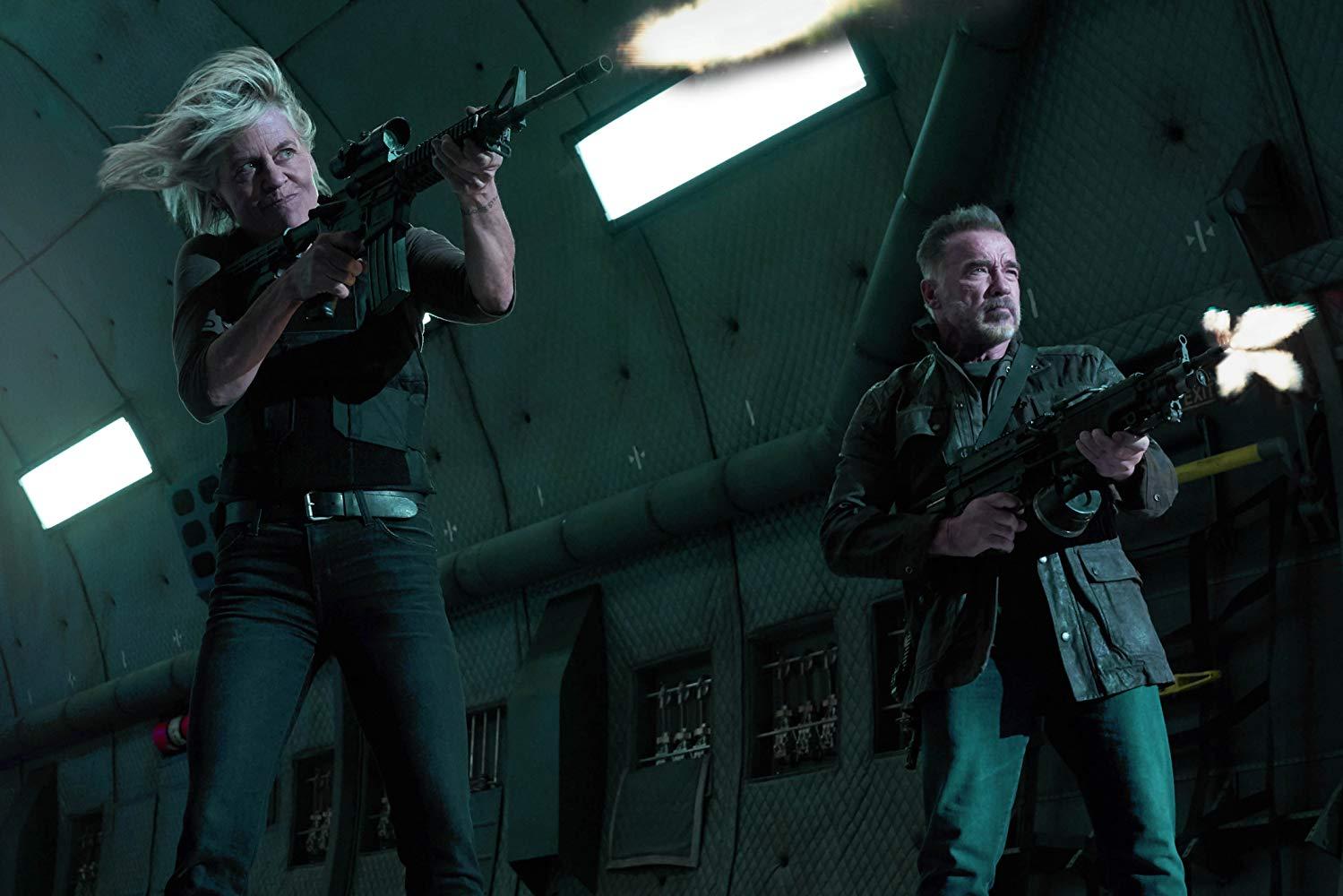 Nem o retorno de Linda Hamilton e Arnold Schwarzenegger à franquia conseguiu salvar a bilheteria (Fonte: IMDb/Reprodução)