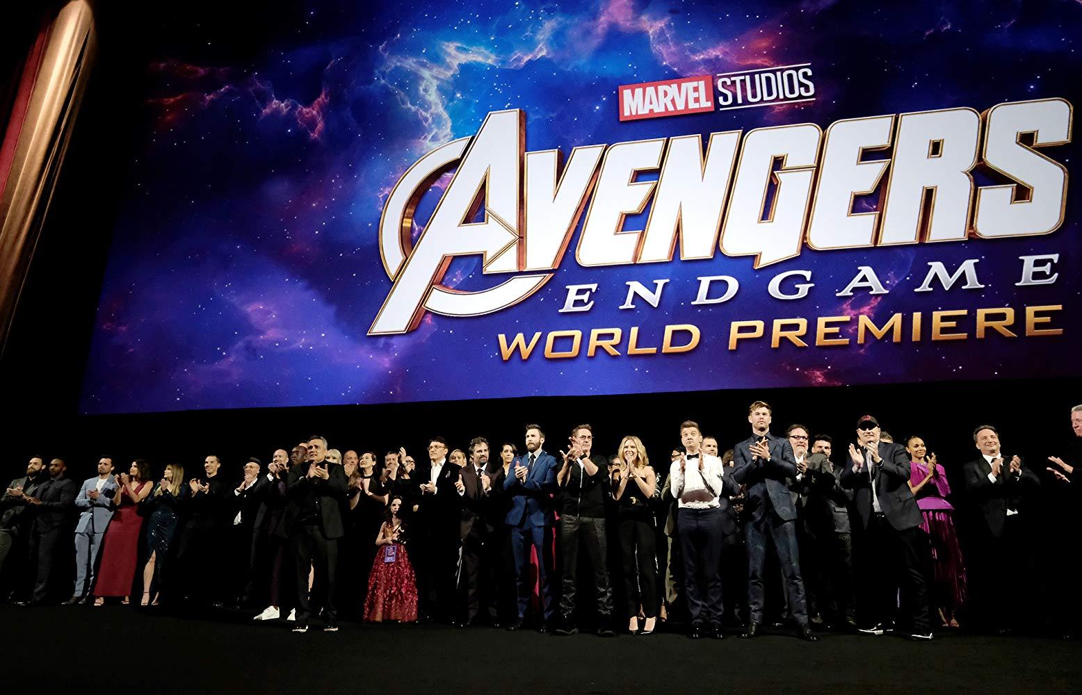 Elenco de 'Vingadores: Ultimato' em evento da pré-estreia do filme (Fonte: IMDb/Reprodução)