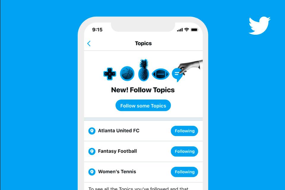 Twitter agora permite que usuários sigam tópicos de interesse
