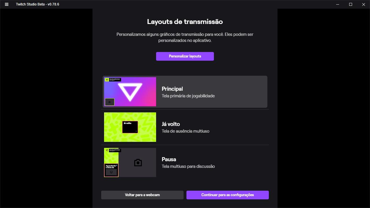 Twitch Studio - Imagem 2 do software