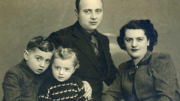família morta durante o Holocausto