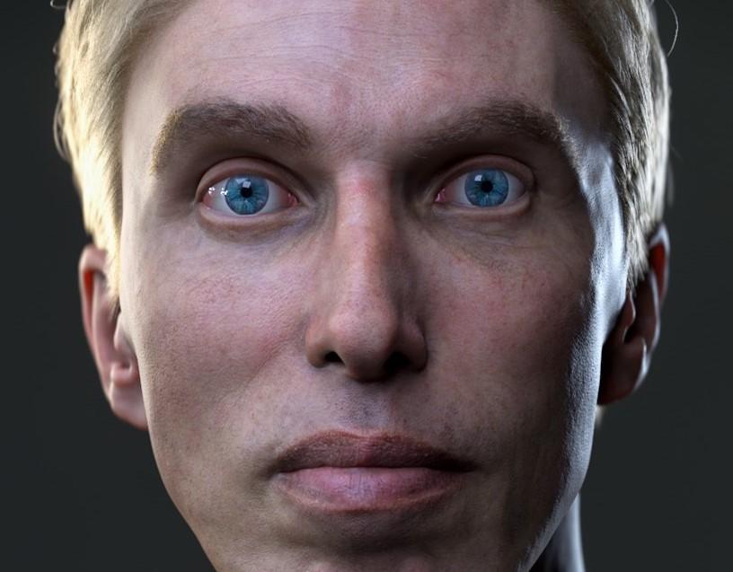 modelo de avatar do ciborgue