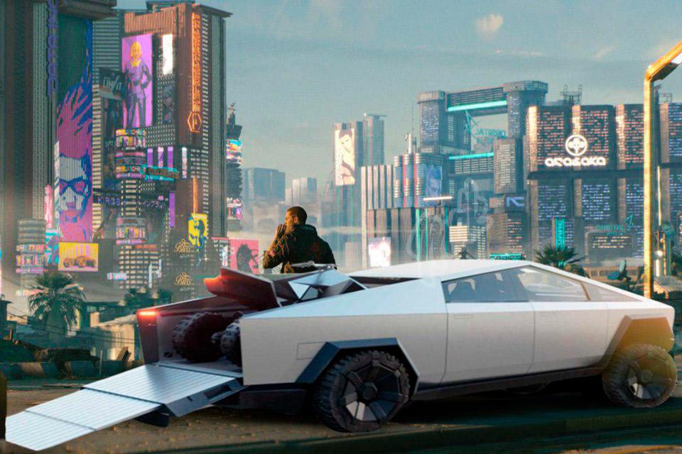 Cybertruck da Tesla pode aparecer no game Cyberpunk 2077