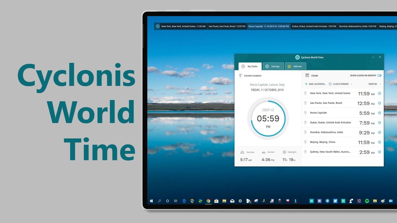 Cyclonis World Time - Imagem 1 do software