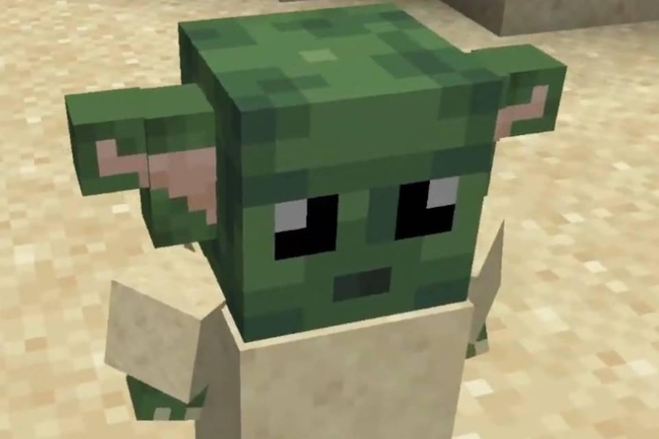 Mod de Minecraft adiciona o 'bebê Yoda' ao jogo