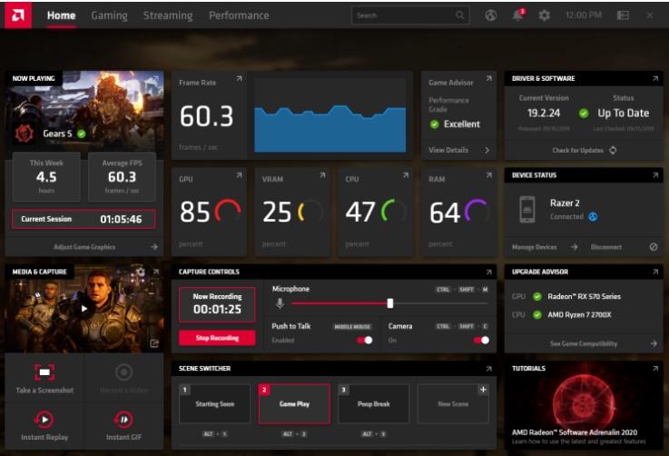 Radeon Software Adrenalin 2020 Edition - Imagem 1 do software