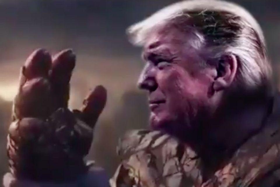Trump se compara a Thanos, um genocida, em vídeo de campanha eleitoral