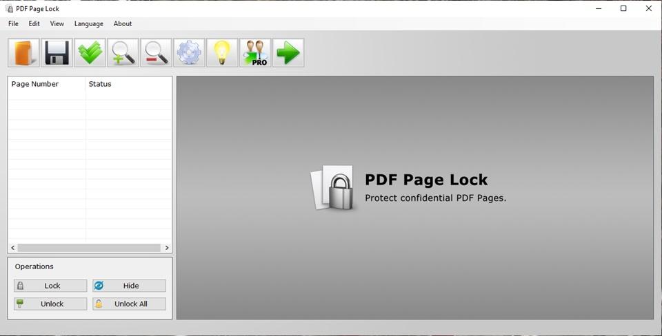 PDF Page Lock - Imagem 1 do software