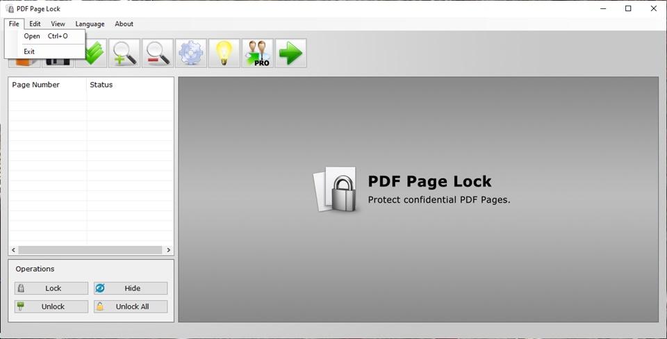 PDF Page Lock - Imagem 3 do software