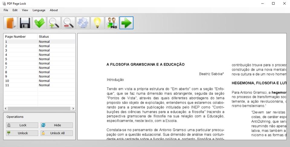 PDF Page Lock - Imagem 5 do software