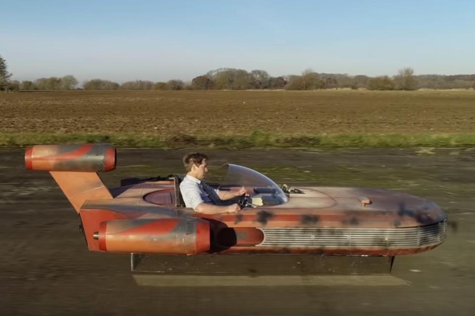 Youtuber constrói Landspeeder de Star Wars totalmente funcional