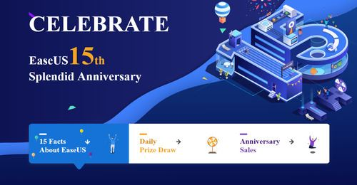 EaseUS 15th anniversary - Free to win prize