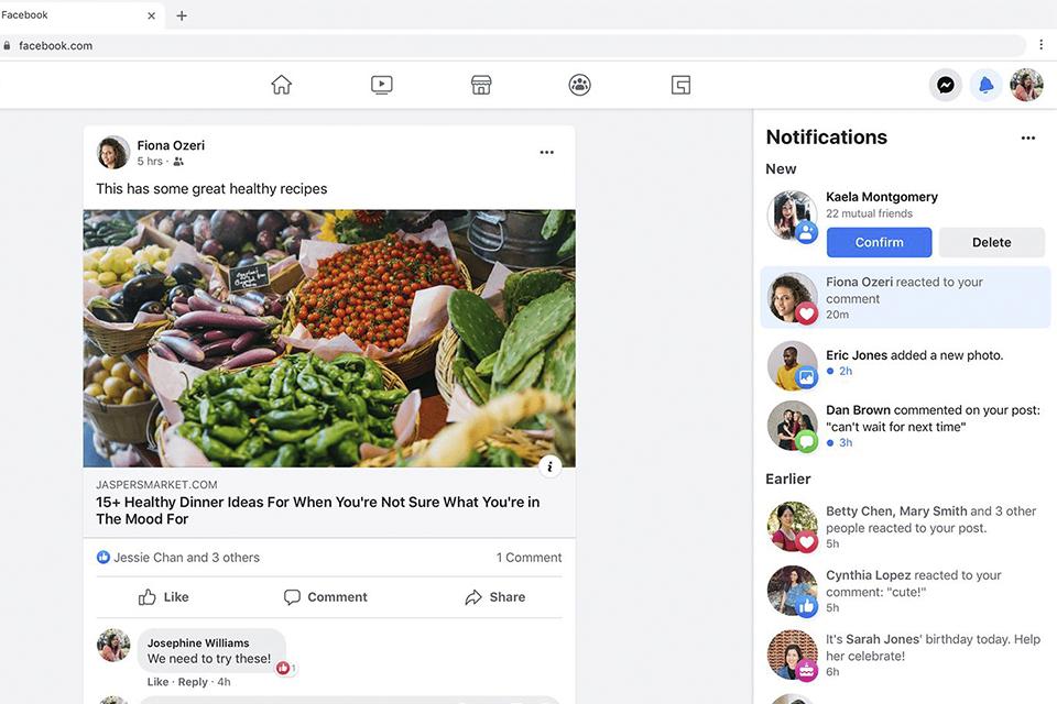 Facebook e Messenger ganham novo design e recursos para desktop