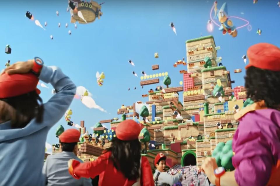 Parque temático da Nintendo ganha empolgante vídeo promocional