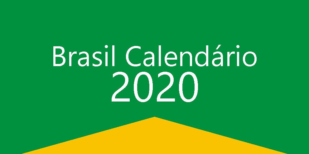 Brasil Calendário 2020
