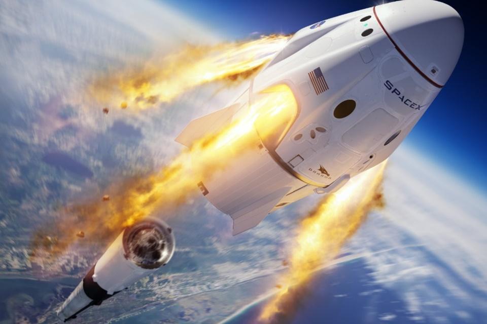 SpaceX: teste de segurança da cápsula Crew Dragon é um sucesso