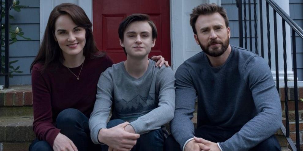 A série é estrelada por William Landay, Jaeden Martell e Chris Evans. (Fonte: Apple TV/Divulgação)