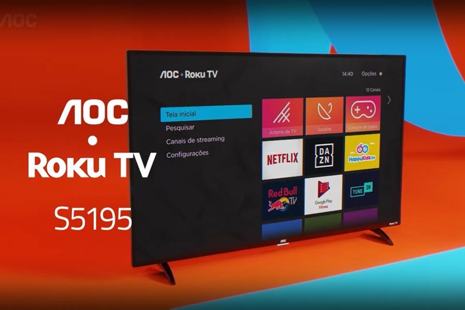 Roku chega ao Brasil em televisores da AOC a partir de R$ 1,1 mil
