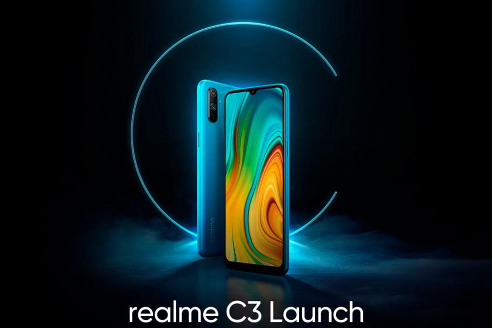Realme C3 será lançado em 6 de fevereiro e tem design revelado