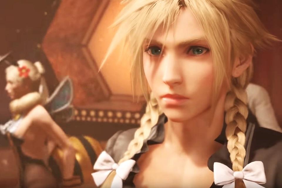 Final Fantasy VII: trailer revela Cloud vestido de mulher e Red XIII