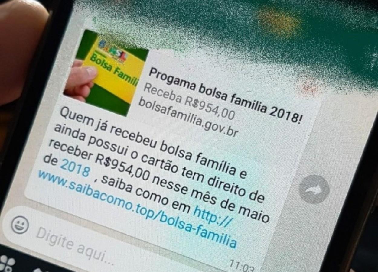 Novo golpe no WhatsApp foca em beneficiários do Bolsa Família