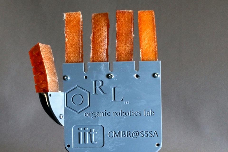 Mão robótica 'sua' para não superaquecer
