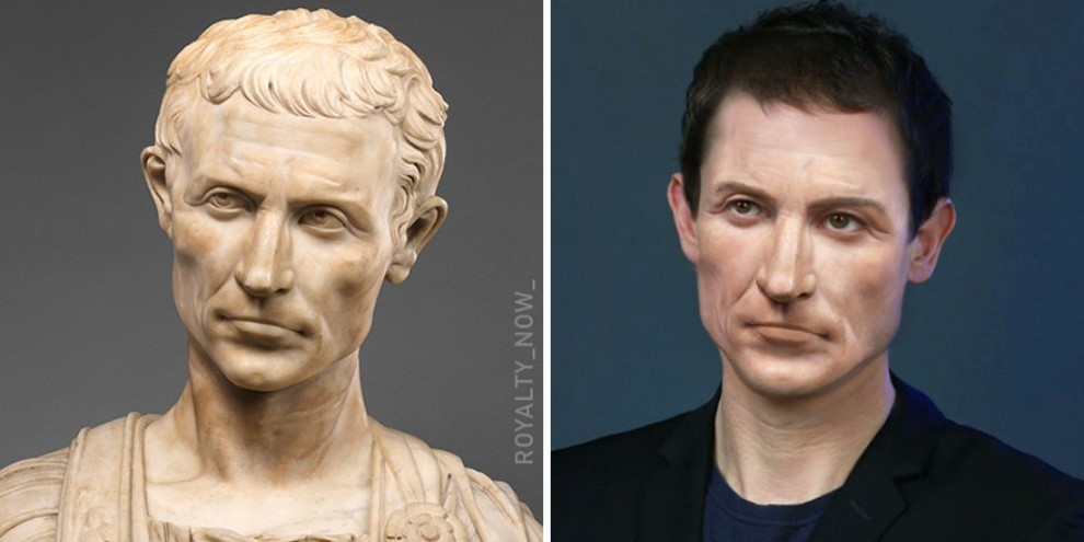 Reprodução de como Júlio César seria atualmente. (Fonte: Royalty Now/Reprodução)