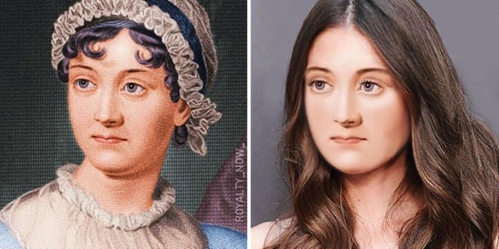 Reprodução da escritora inglesa Jane Austen. (Fonte: Royalty Now/