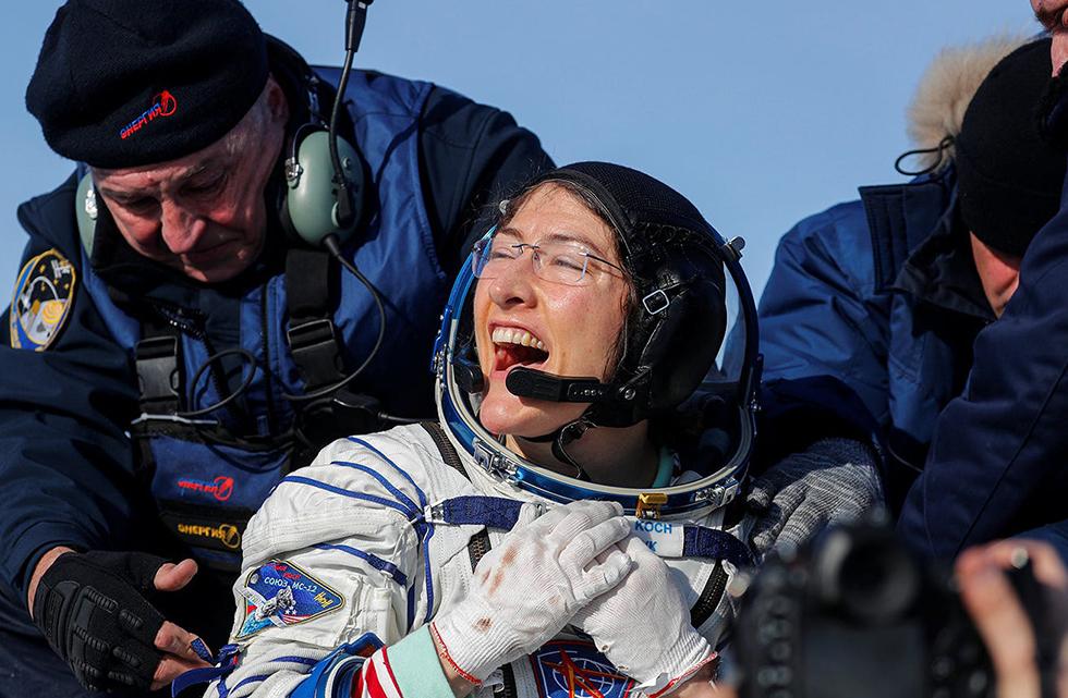 Christina Koch analisa como é a vida de volta à Terra