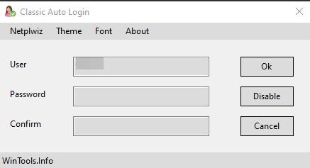 Classic Auto Login - Imagem 1 do software