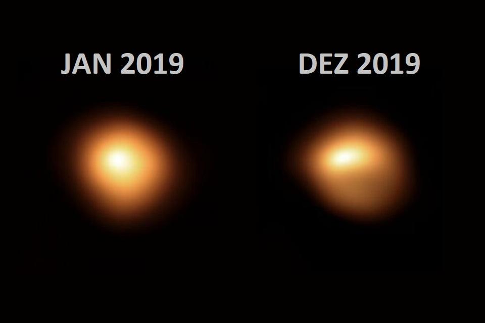 Com perda de brilho e formato, Betelgeuse apresenta comportamento bizarro