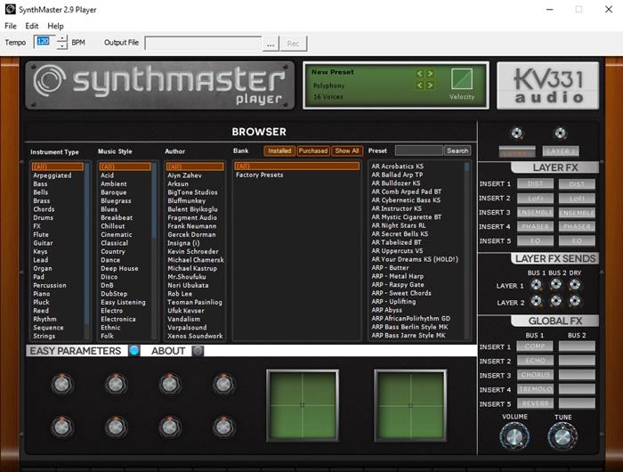 SynthMaster Player - Imagem 1 do software