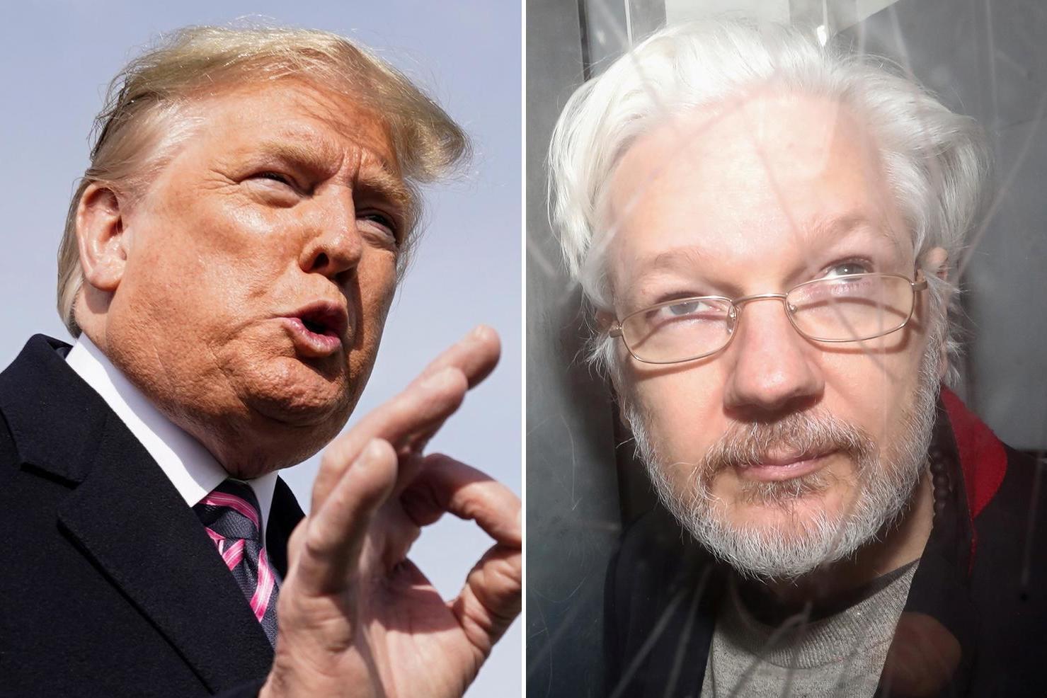 Trump teria oferecido perdão a Julian Assange, fundador do WikiLeaks