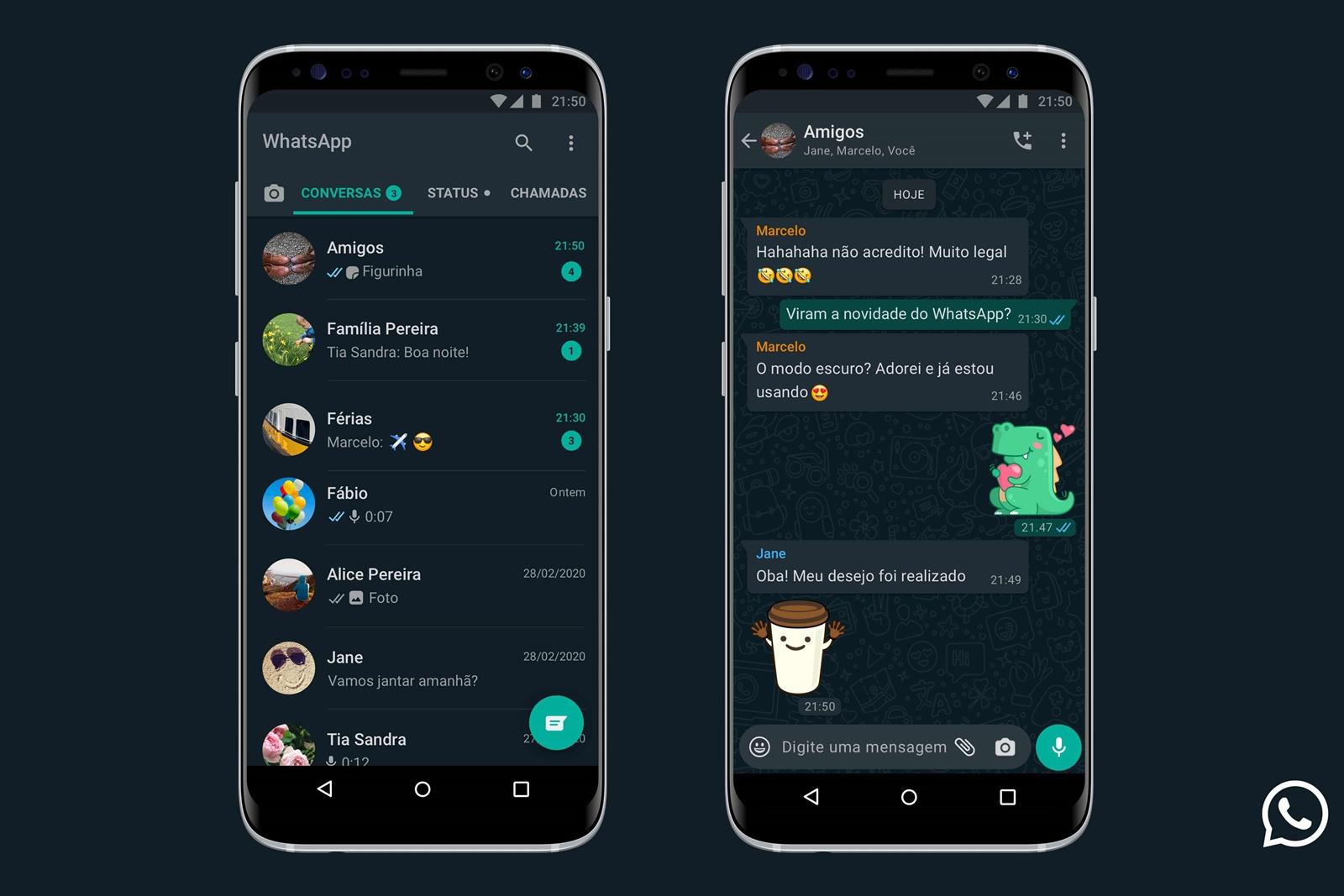 WhatsApp: Modo Escuro finalmente chega para todos