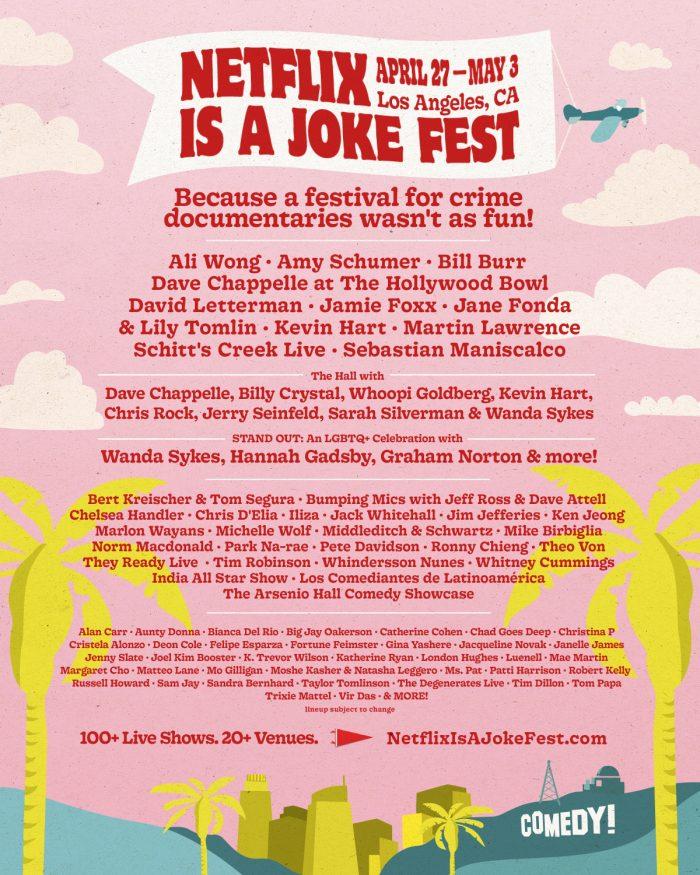 Netflix lança seu próprio festival de comédia em Los Angeles