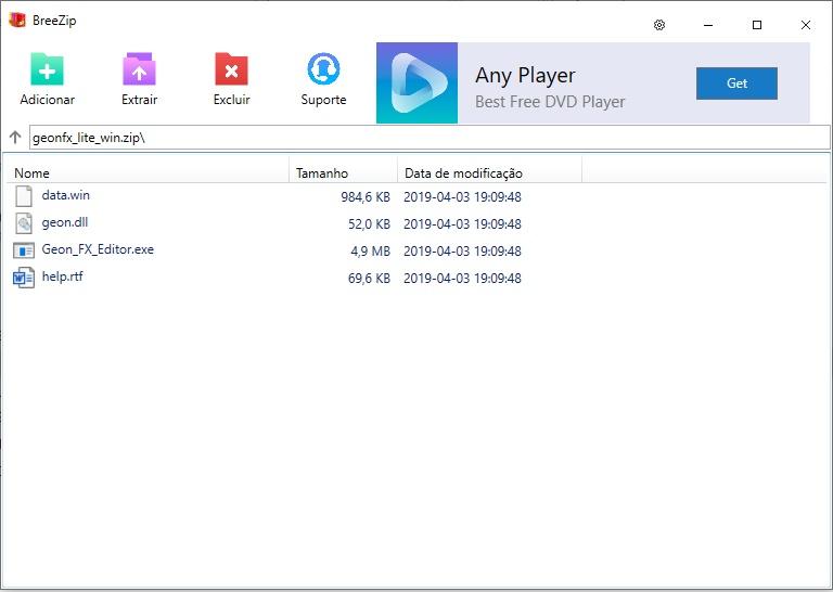 BreeZip - Imagem 1 do software