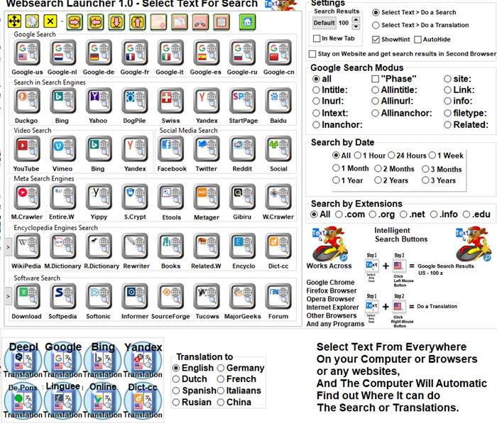 Websearch Launcher - Imagem 1 do software