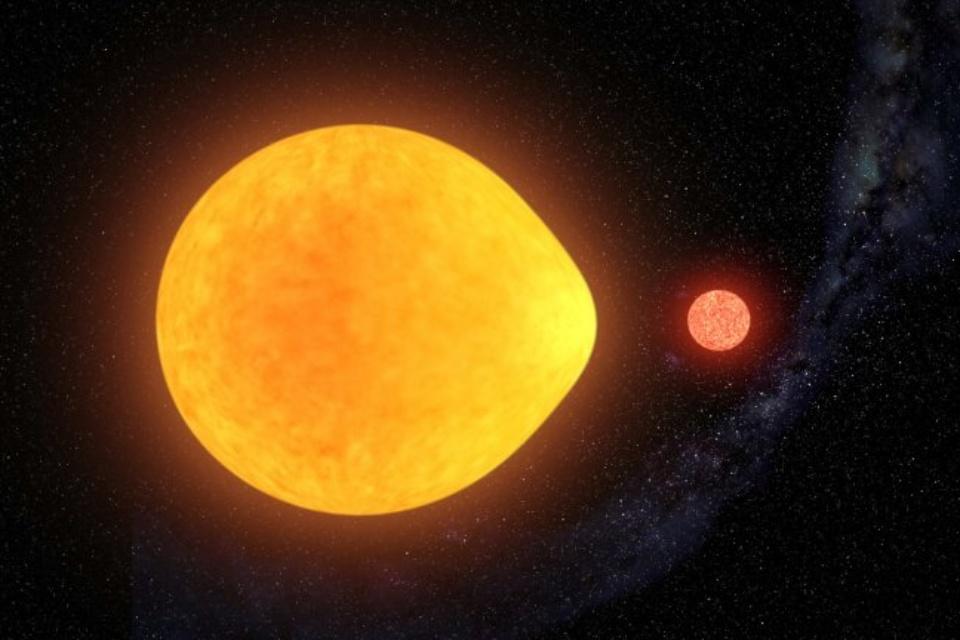 Descoberta estrela que só pulsa em um dos lados