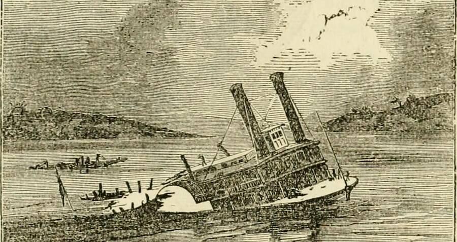 (A retratação do naufrágio)