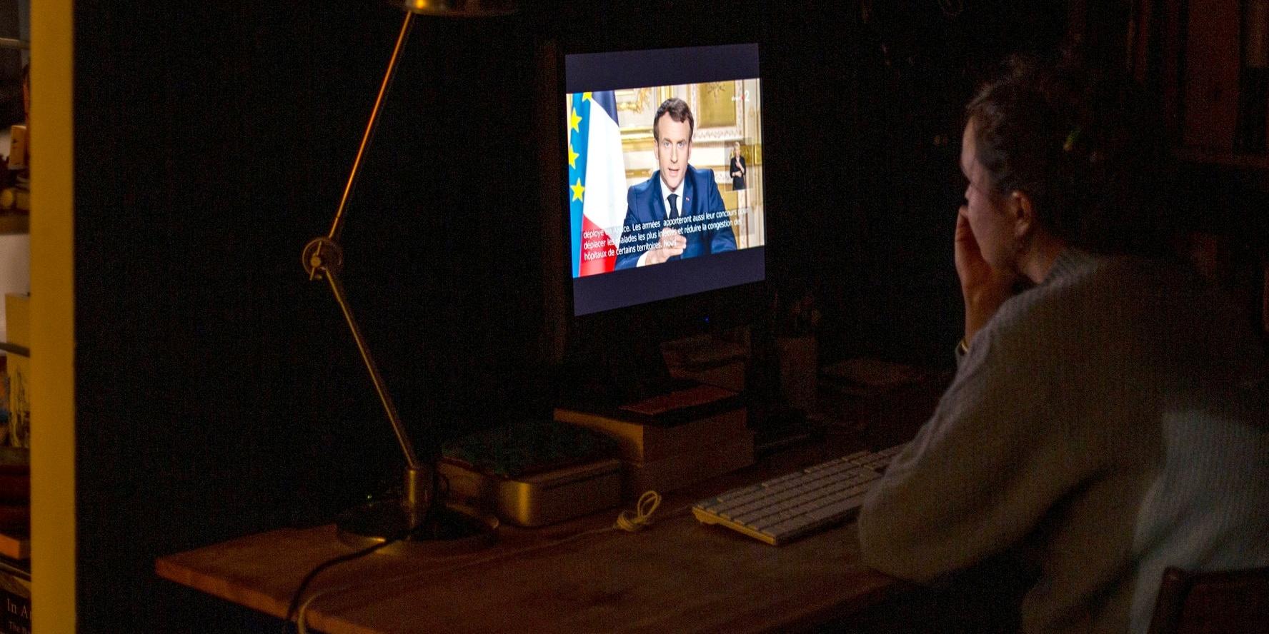 Pronunciamento do presidente francês Emmanuel Macron.