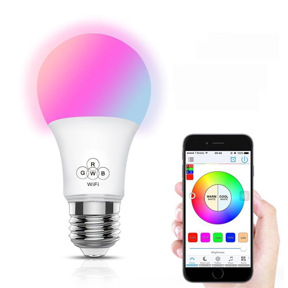 Imagem: Lâmpada Inteligente LED, com Wi-Fi, 4.5W e Suporte Alexa Google