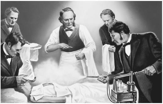 Os médicos passaram a borrifar substâncias