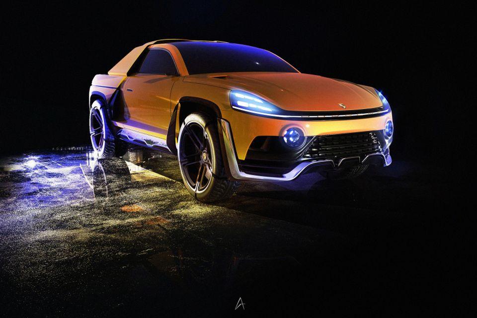Como seria uma caminhonete elétrica da Porsche? Veja o conceito