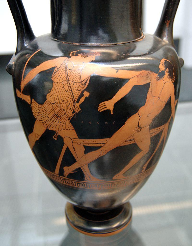Teseu e Procusto (Fonte: Wikipedia/Reprodução)
